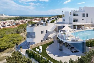 Penthouse with sea views, 400m from the beach, parking included