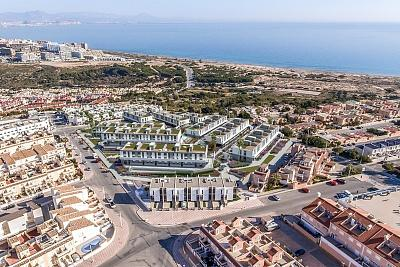 Modern residential of 170 apartments 500 meters from the beach and one step away from services.