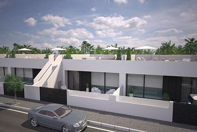 9 Modern build luxury one level villas with large roof solarium in Pilar de la Horadada