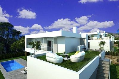 Modern villa in Sierra Cortina with good sea views
