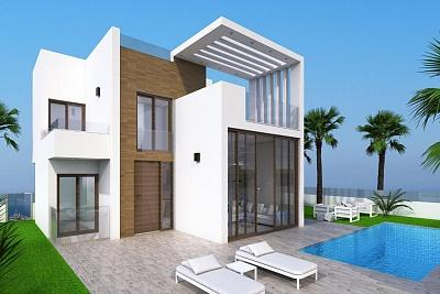 Villas with private pool, garden, solarium and chillout area